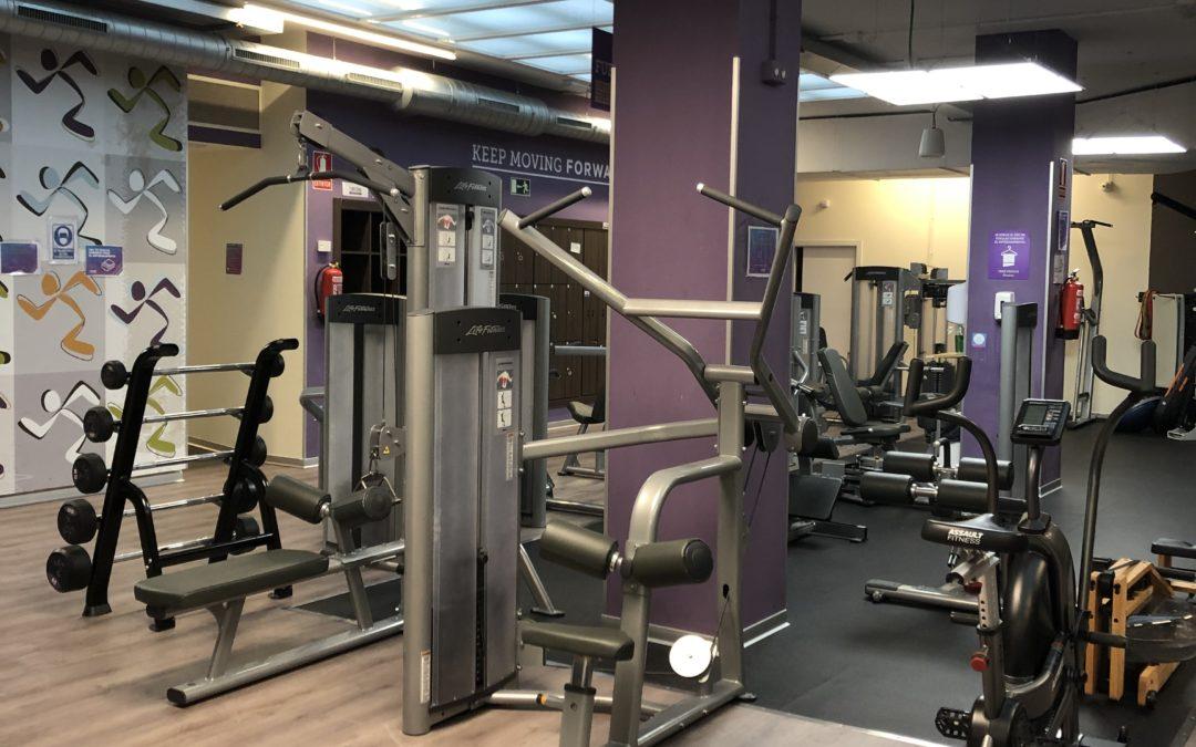 Praktikak Anytime Fitness gimnasioan